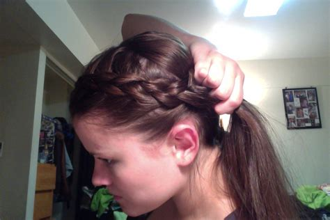 thin relaxed hair around ear headband obsessed with pinterest