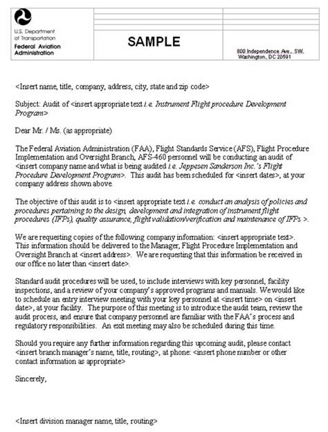 Faa Service Letter Definition order fs 8260 57 oversight of third instrument flight procedure service providers
