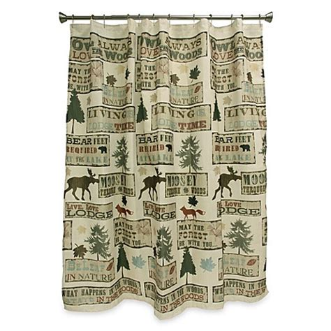 Lodge Shower Curtains Buy Live Lodge Shower Curtain From Bed Bath Beyond