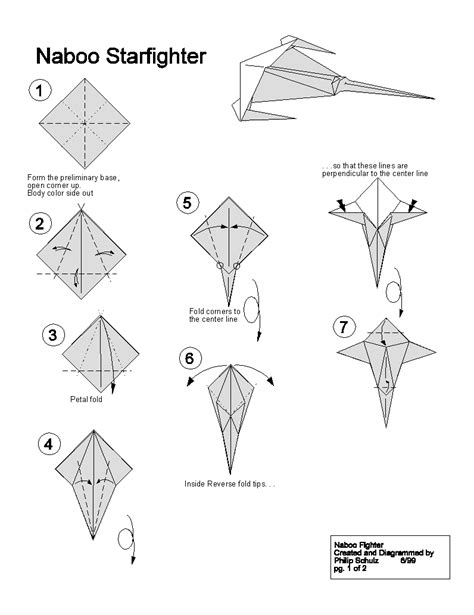 How To Make Paper Wars Ships - extremegami how to make a origami naboo starfighter