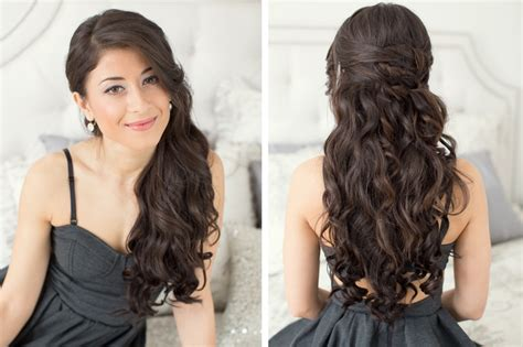 prom hairstyles for long curly hair down prom hairstyles for long hair half down wavy hairstyles