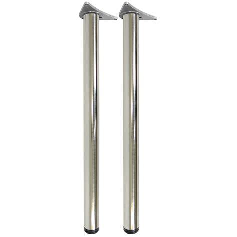 chrome table legs 2 brushed chrome 890mm worktop kitchen breakfast bar table