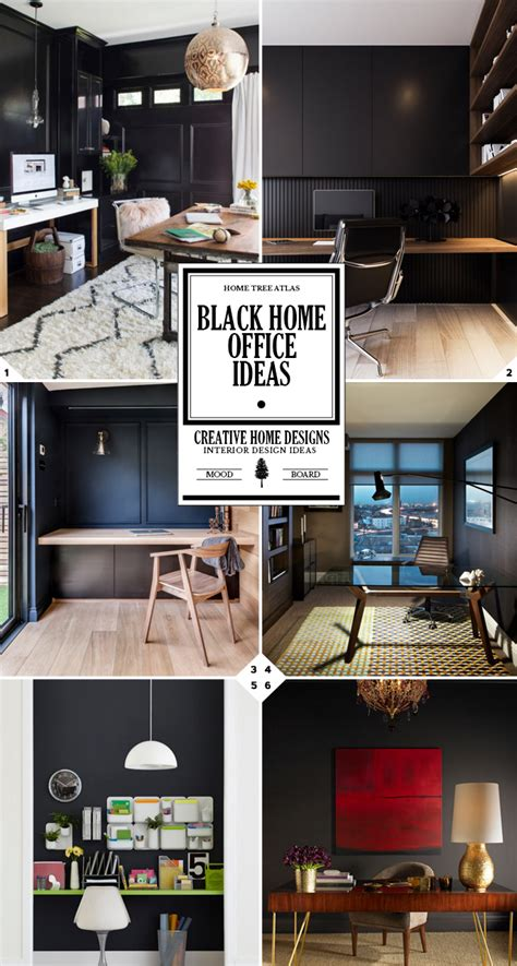 Home Office Design Guide Color Style Guide Black Home Office Ideas Home Tree Atlas