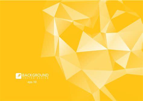yellow abstract geometric rumpled triangular  poly