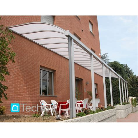 tettoie plexiglass per esterni pensiline alluminio mod pensiline alluminio misura