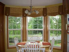 Kitchen Curtains For Bay Windows Kitchen Bay Window Treatments Home Design Ideas And Pictures