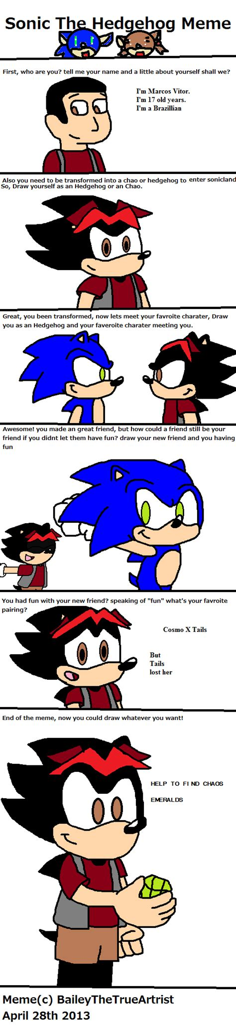 Sonic The Hedgehog Meme - sonic the hedgehog meme featuring me by marcoslucky96 on