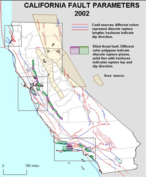 california quake map earthquake zone map california