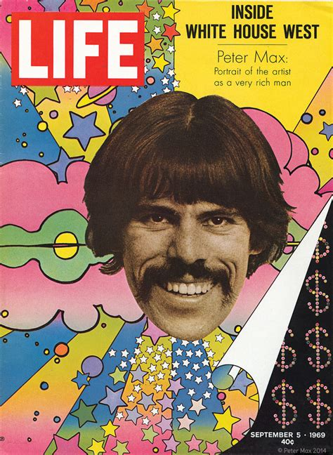 biography of peter max artist awkward man grafik