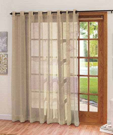 Sheer Patio Door Curtains Wide Patio Door Curtain The Lakeside Collection Curtains That I Pinterest