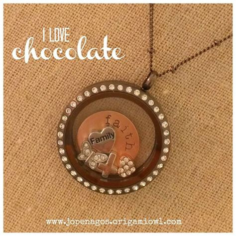 Origami Owl Chocolate Chain - origami owl large chocolate locket with crystals on a