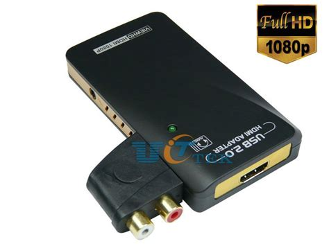 Vga Card 2 Output usb 2 0 to hdmi dvi vga multi display graphics card adapter with 2 1ch audio jpg