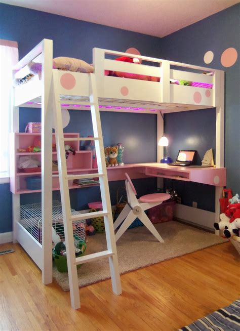 ana white loft bed  desk diy projects