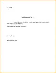 Authorization Letter To Pick Up Certification Authorization Letter To Pick Up Authorization Letter Pdf