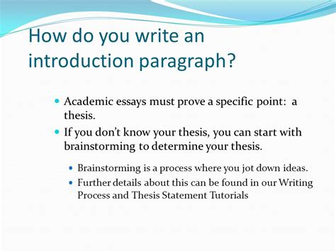 how do you write a dissertation introduction paragraph ppt