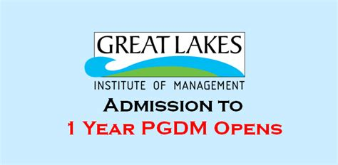 Great Lakes One Year Mba by Great Lakes Commences Admission For Pgpm 2018 Batch