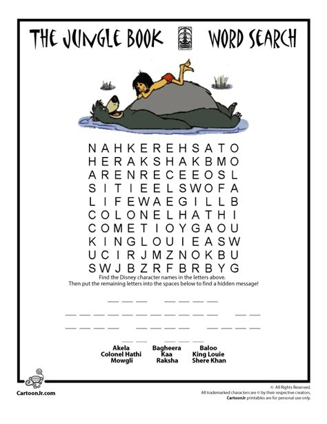 printable jungle word search image gallery jungle book activities