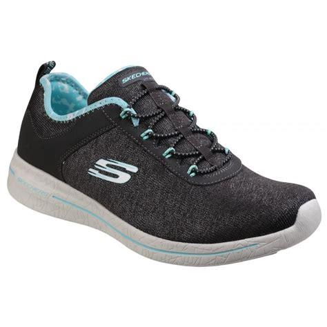 Skechers Burst Illumination Sepatu Skechers skechers womens black light blue burst 2 0 shoes sk12659