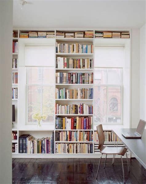 Bookshelves Around A Window Park And Oak Interior Design Window Bookshelves