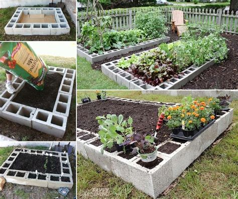 Cinder Block Raised Bed by These Cinder Block Raised Garden Beds Are Just Fabulous