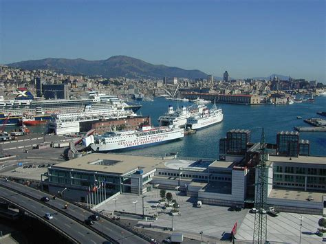 genoa italy port genoa italy port sea view