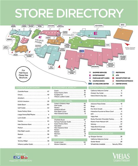 hanes mall map viejas outlet center deals and coupons in one place
