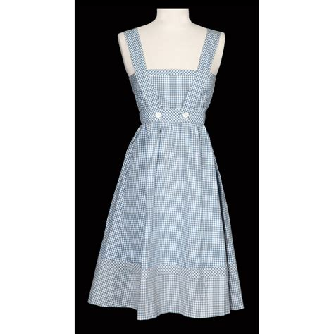 Oz Dres Mickey Whiite judy garland screen used dorothy gale blue and white gingham pinafore dress from the wizard of oz