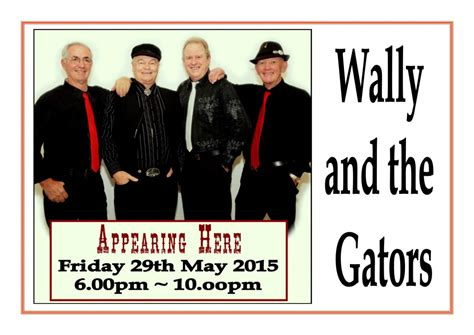 friday may 29 2015 friday entertainment wally the gators paradise point
