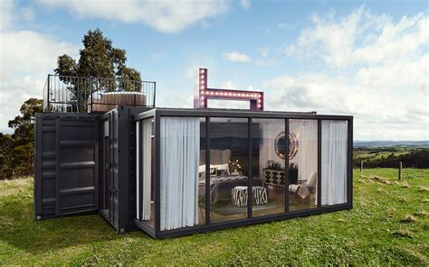 pop up luxury hotel container