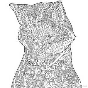 zentangle stylized fox stock vector image 76462706