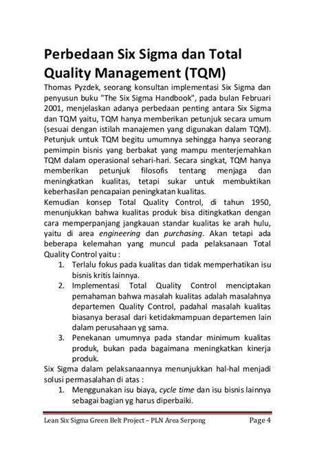Buku Six Sigma lean six sigma green belt project at pln area serpong
