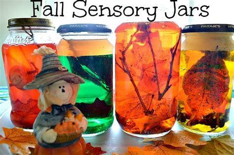 nature themes jar fall sensory jars teacher things pinterest