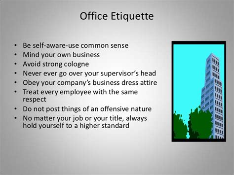 Office Etiquette Business Etiquette