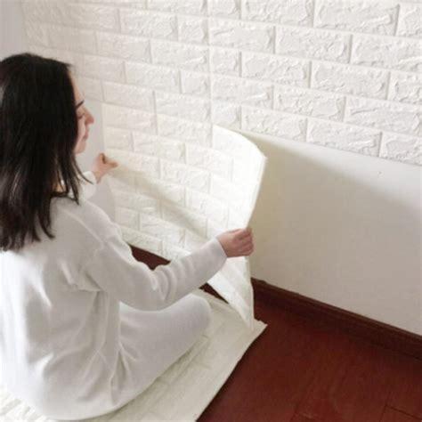Sale 3d Wallpaper Embossed Texture Foam Brick Orange Solid aliexpress buy 60x60cm pe foam 3d wallpaper diy wall stickers wall decor embossed brick
