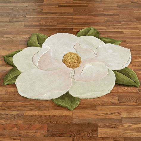 Carreen Magnolia Flower Shaped Rugs Flower Rug