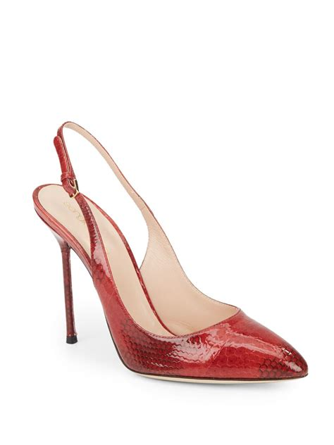2 Die 4 Sergio Patent Booties by Sergio Patent Leather Slingback Pumps In Lyst