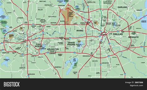 fort worth texas map showing cities dallas fort worth metropolitan area map stock photo stock images bigstock