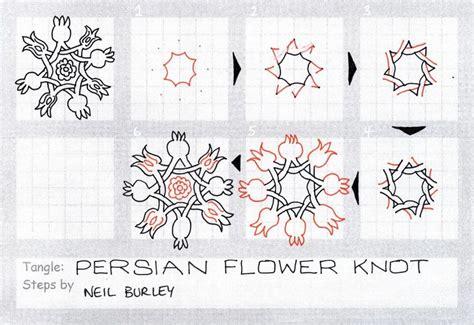 zentangle knot pattern persian flower knot zentangle zentangles pinterest