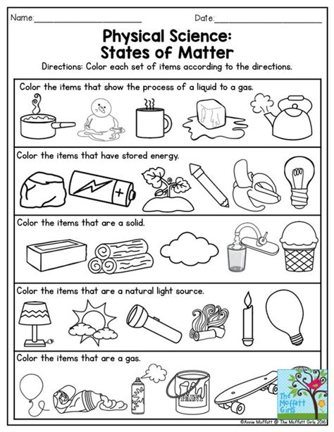 properties of matter review worksheet physical science states of matter this is a great exercise for third grade also there are