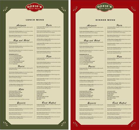 restaurant menu layout software 9 best images about menus on pinterest cleanses pizza
