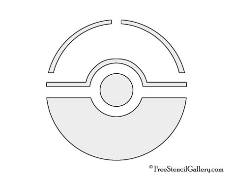 pokeball template pokeball stencil free stencil gallery