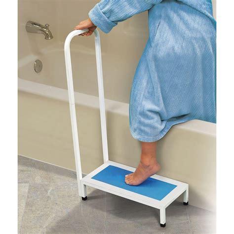 bathroom medical aids maxiaids non slip bath step with handle