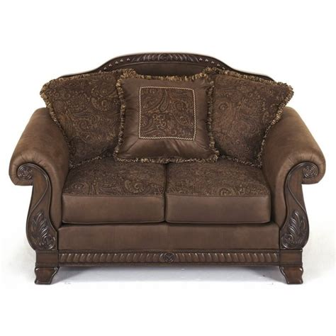 ashley furniture microfiber loveseat ashley bradington microfiber loveseat in truffle 1540035