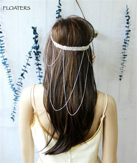 Headpiece Headband Chain bridal headpiece bridal headband hair chain chain