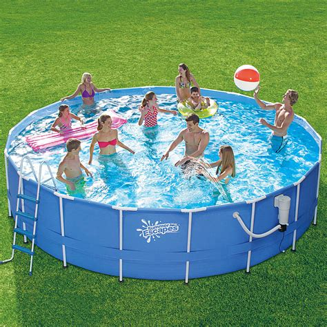 Summer Wave Cyrstal Pool 51028 summer escapes pool set enjoy swimming in the privacy of your home