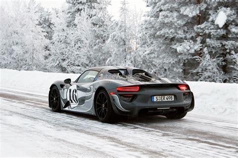 porsche winter spyshots porsche 918 spyder winter testing autoevolution