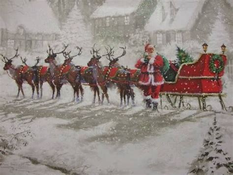 best art of santa and eight teindeer 560 best images about santa his sleigh on before santa clause and