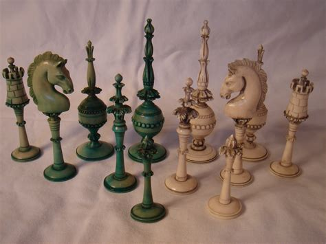 chess styles turkish style carved ivory chess set assorted pieces