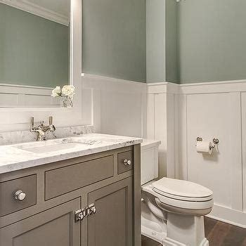 Tranquil Bathroom Ideas by Washstand Painted Gray Design Ideas