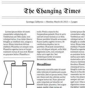 newspaper template docs tools that make it click doc newspaper templates